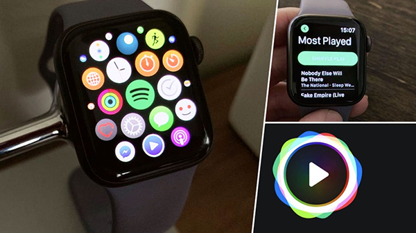 stream spotify music on apple watch