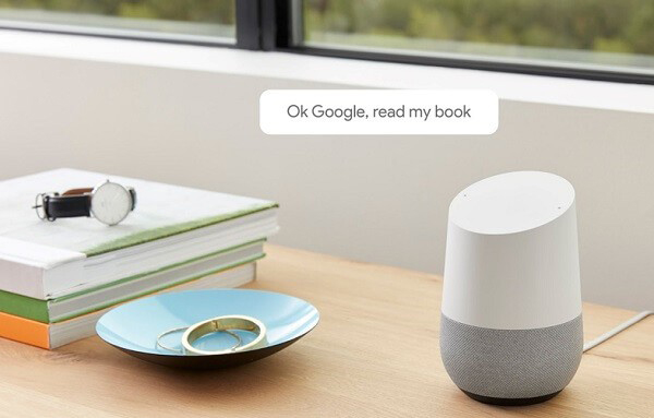 audible audiobooks to google home