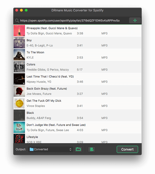 import spotify songs