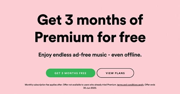 get spotify 3 months free