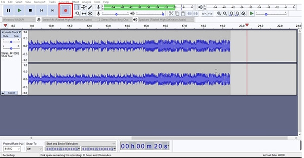 record spotify with audacity 5